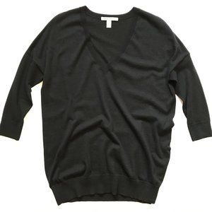 Autumn Cashmere Sweater Small V-Neck Black Relaxed